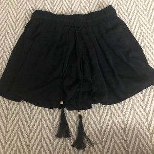 Zara black tassel shorts